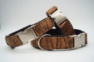 Halsbänder Kork auf Leder