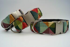 Halsbänder Gobelin auf Leder